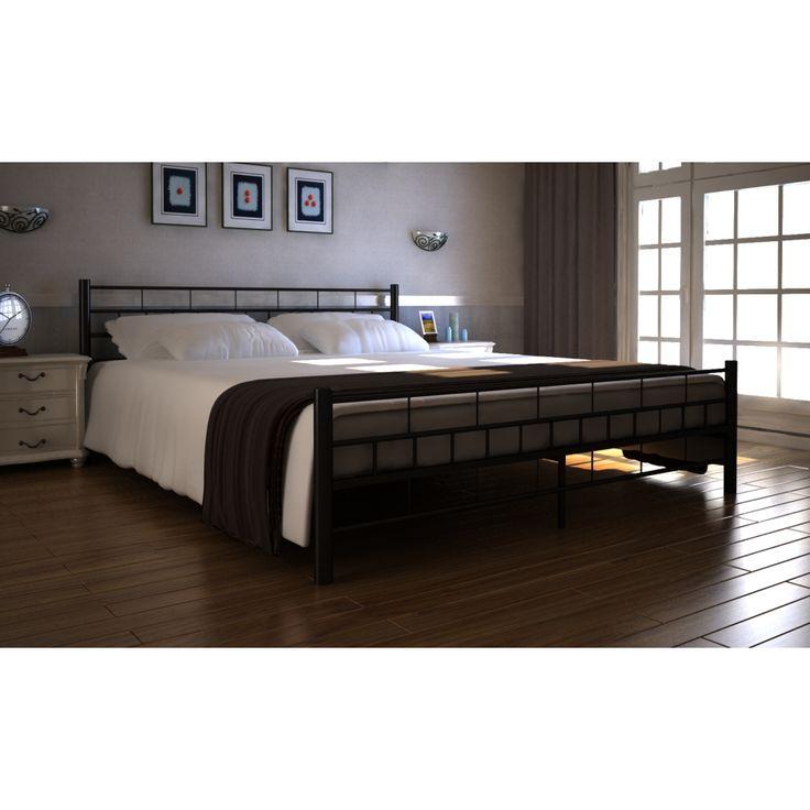 Doppelbett günstige und versandkostenfrei bestellen auf:  http://moebeldeal.com/raeume/schlafzimmer/betten/1253/bett-doppelbett-mit-lattenrost-140x200-cm-schwarz