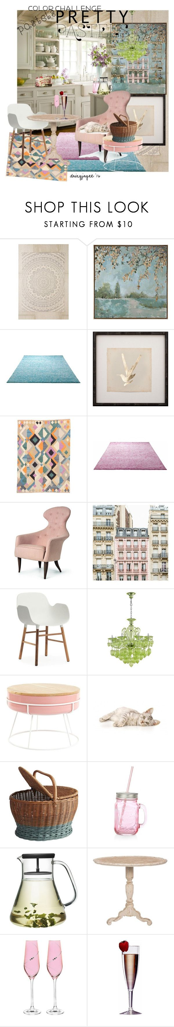 """pretty pastels"" by daizyjayne ❤ liked on Polyvore featuring interior, interiors, interior design, home, home decor, interior decorating, Plum & Bow, Uttermost, ESPRIT and Normann Copenhagen"