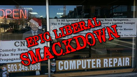 """A small business owner in Oregon has a message for CNN, ignorant liberals and Bruce Springsteen: """"We've had it with you idiots."""" Kevin Kerwin is the proprietor of Kevin the Geek Computer Repair store in Lake Oswego. He's also one of the few conservatives around town. """"Oregon is a very beautiful state, but it's infested...Read More"""