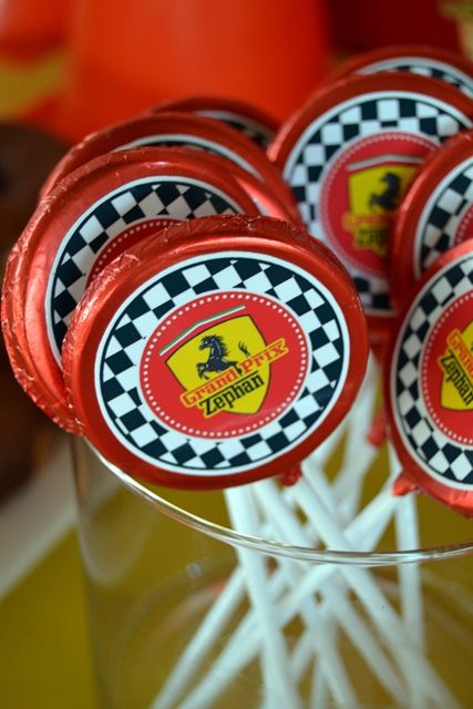 Ferrari Chocolate Lollipops