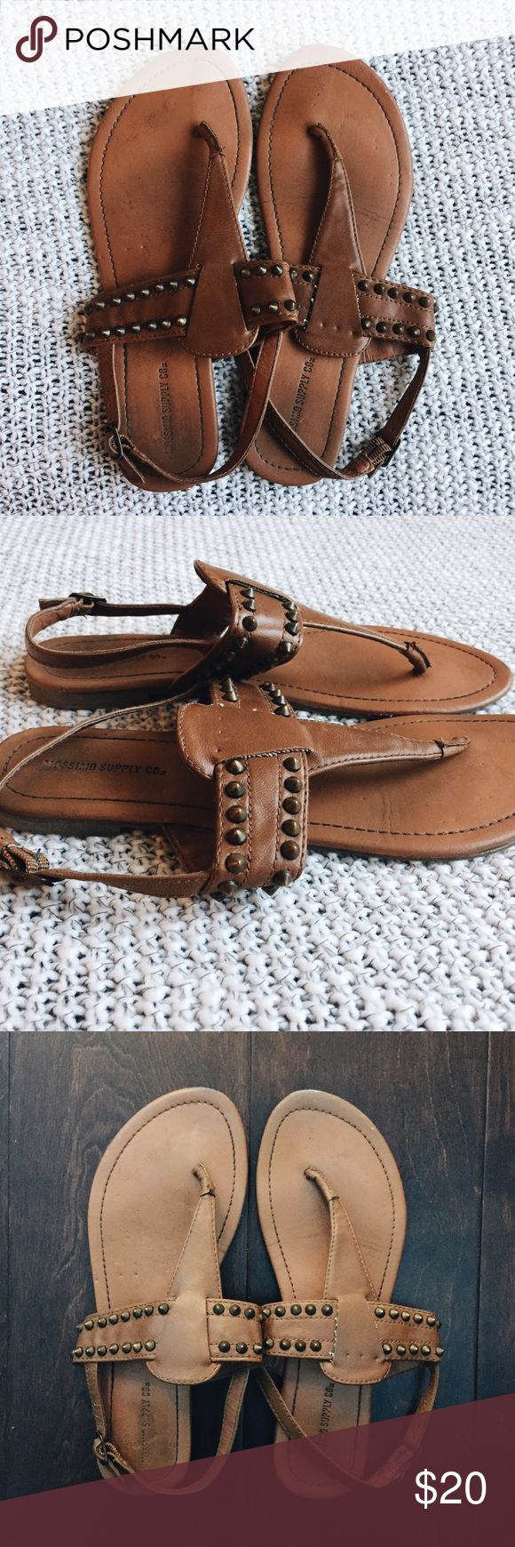 Bronze Studded Camel Sandals Size 8. Studded strappy sandals. Very comfortable and in great shape. Shoes Sandals