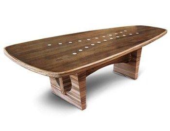 Κατασκευασμένο από ξύλο και σχεδιασμένο από το Pilot Design, τοWood Dining Table είναι βέβαιο ότι ξεχωρίζει. Χωρά άνετα εννιάάτομα και η επιφάνεια του παραπέμπει σε skate board.