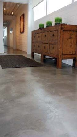 I like concrete grey -- Staining Recipe: Concrete Chic - Concrete Decor -  Surtec's Aquapro Sealer & Surtec's Endure Floor Finish