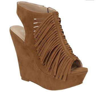 Put the finishing touch to your outfit with these Fringed Summer Wedges. By Jalapeno Shoes, these chic wedges feature an open toe and free flowing fridge down the top front of the shoe. They secure at the inside ankle with zipper.   Shop this product here: http://spreesy.com/Shopbellablu/169   Shop all of our products at http://spreesy.com/Shopbellablu      Pinterest selling powered by Spreesy.com