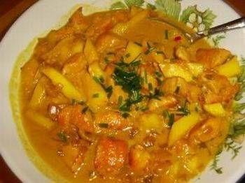 Kipfilet Met Mango In Een Pittige Roomsaus recept | Smulweb.nl
