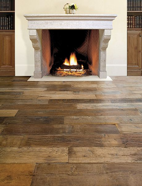Antique french oak pulled from actual wood flooring for Homes with hardwood floors