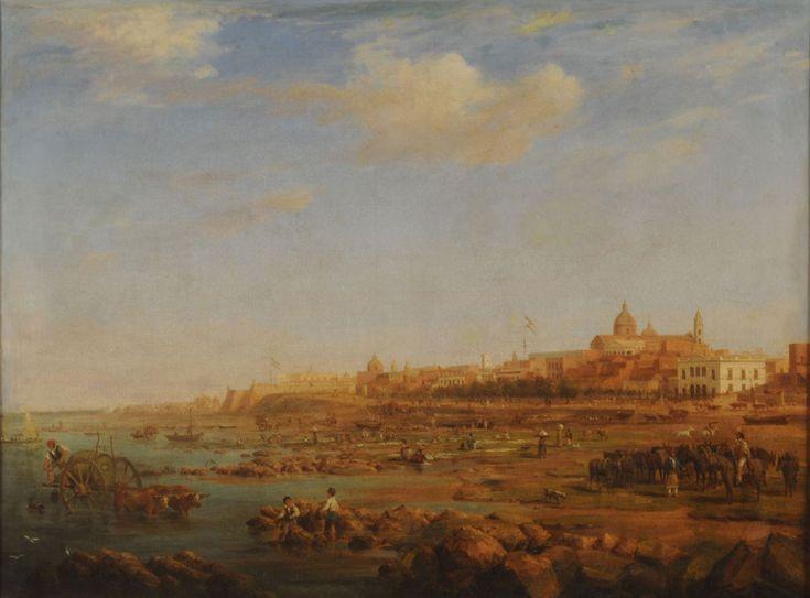 Richard Adams-Vista de Buenos Aires desde la ribera norte-1832