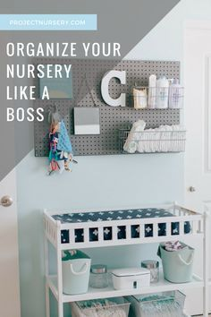 Nursery Organization Tips - including keeping that changing table stocked with @pampers! #PNpartner
