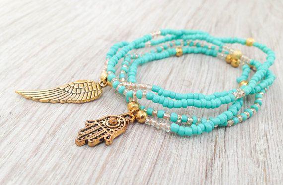 Boho bracelets Hamsa bracelet Boho jewelry Bracelet by Olive1990, €5.80