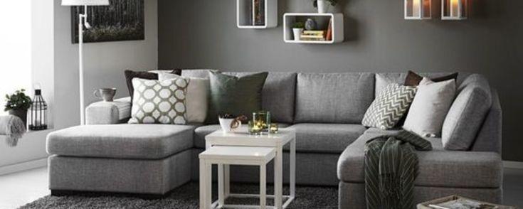 10 salas de color gris que te encantar n decoraci n for Casa paulina muebles y decoracion