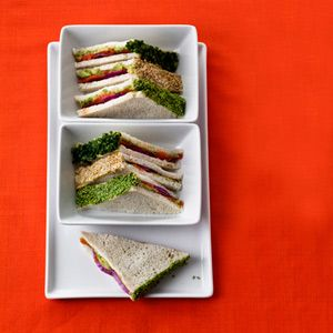MyRecipes recommends that you make this Smoked Salmon-Wasabi Tea Sandwiches recipe from Health