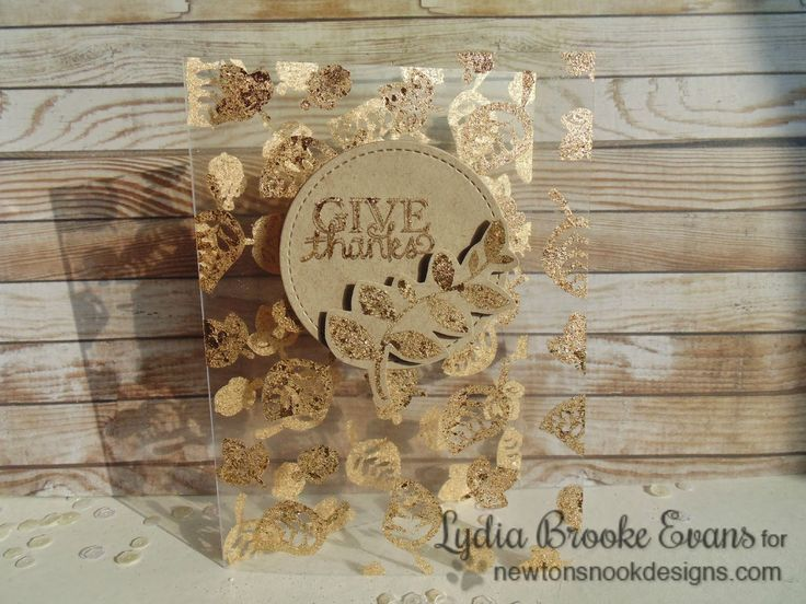 Card Making Ideas Using Acetate Part - 49: Love Lydia Brooke: Stamping On Acetate With NND Falling Into Autumn -...  Fall CardsGold ...