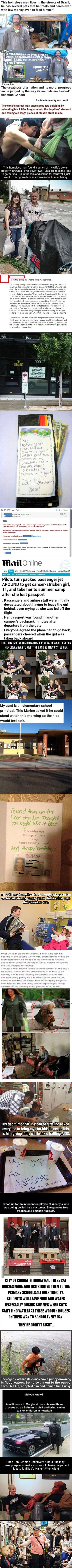 Here are some random acts of kindness that restore faith to humanity.