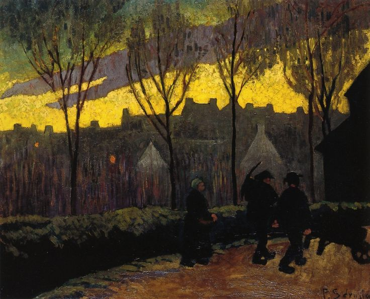 Evening by @paulserusier #synthetism