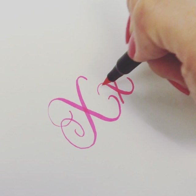 """Letter """"X"""" for #letterarchive  #letterarchive_x Wow, almost the end of the alphabets  Video speed x2 Pen: @sakuraofamerica Sai watercolor brush pen"""