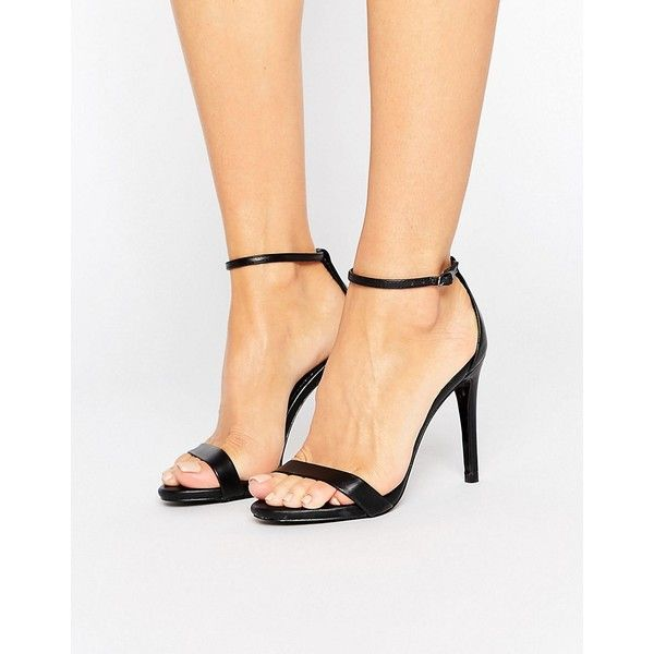 Barely there sandals in black