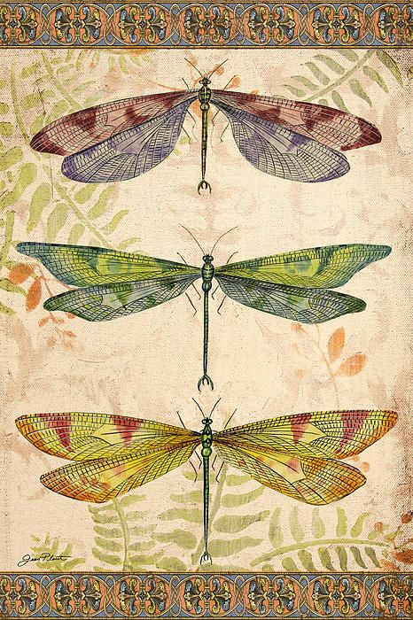 I uploaded new artwork to fineartamerica.com! - 'Vintage Wings-dragonfly Trio' - http://fineartamerica.com/featured/vintage-wings-dragonfly-trio-jean-plout.html via @fineartamerica