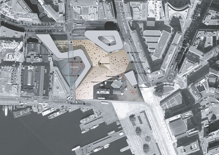 Vestbanen siteplan, Oslo / competition entry