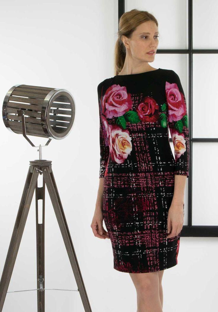 Joseph Ribkoff - Flower Print Dress
