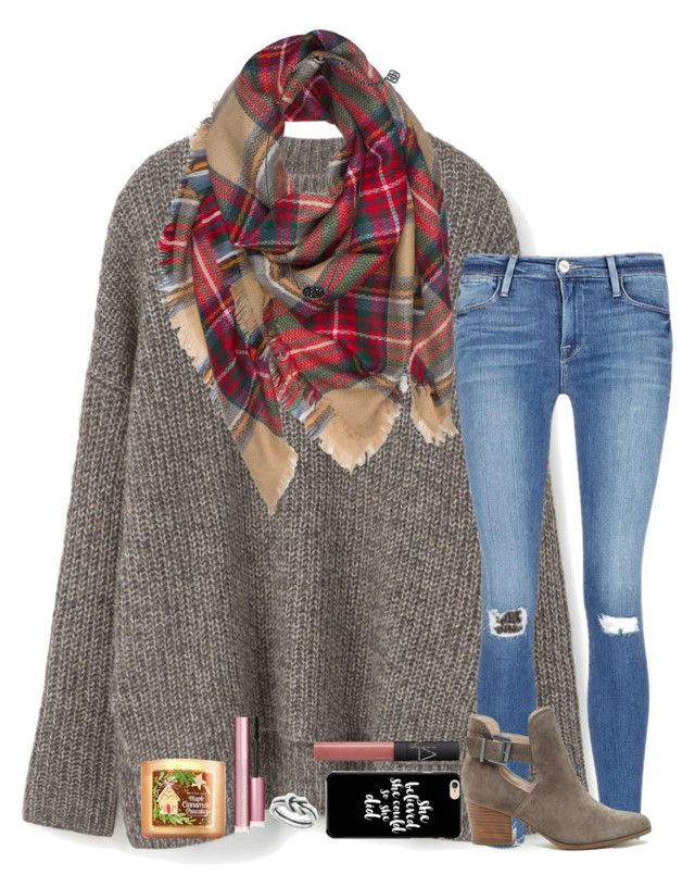 """""""what i got for Christmas in description"""" by kyliegrace ❤ liked on Polyvore featuring beauty, MANGO, Frame, Too Faced Cosmetics, Sole Society, Avery, NARS Cosmetics and Kendra Scott"""
