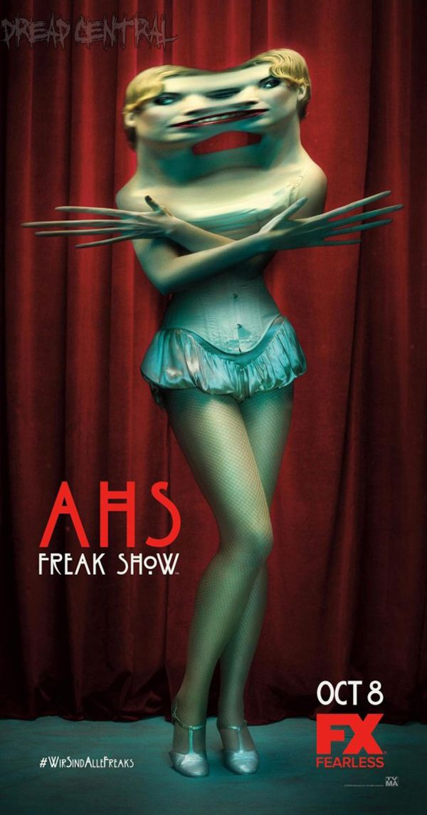 New American Horror Story: Freak Show One-Sheets Show Off the Oddities ...