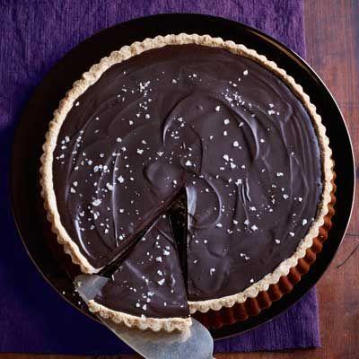 Ganache Tart with Salted-Almond CrustValentine'S Day, Desserts Recipe, Cake Recipe, Salted Almond Crusts, Chocolate Desserts, Ganache Tarts, Chocolates Recipe, Chocolates Desserts, Salts Almond