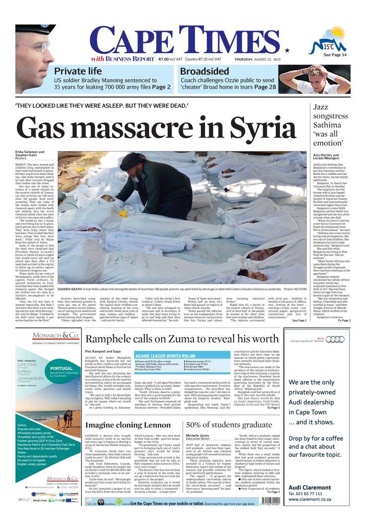 News making headlines: Gas massacre in #Syria