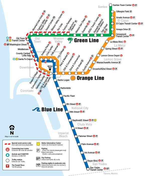 Take the trolley over to Old Town, San Diego State University, Qualcomm Stadium or Mission Valley. Picks you up from Seaport Village or the Convention Center, adjacent to our hotel. #sandiego #vacation