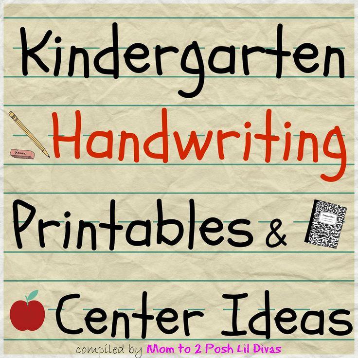 Mom to 2 Posh Lil Divas: Kindergarten Handwriting Practice Activities and Centers. Lots of great ideas here!