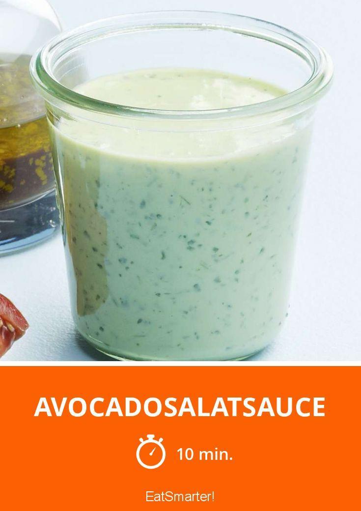 Avocadosalatsauce - super lecker mit Buttermilch gemacht.