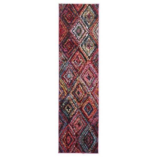 Minab Multi-Colour Diamond Runner Rug