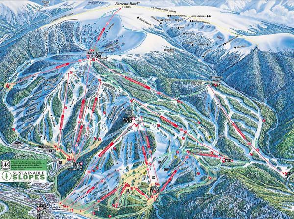 Winter Park Colorado - a great ski mountain with a lot of bumps and great technical trails. Beautiful scenery of the Continental Divide.