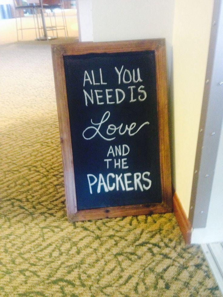 Packer wedding :)