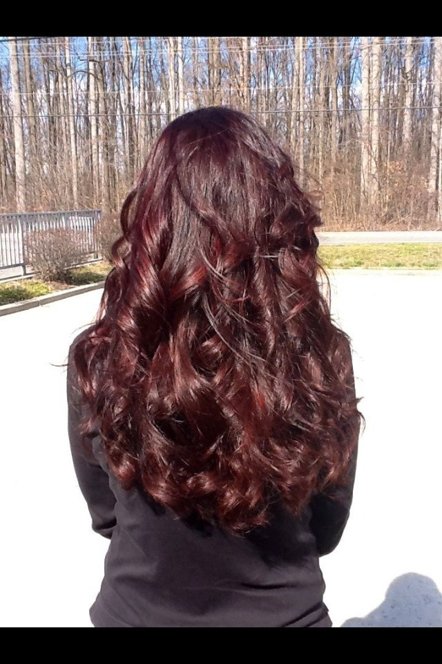 Rich chocolate cherry, this color pops in the sunlight!