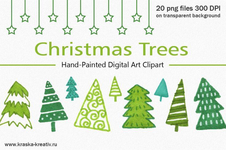 FREE! Christmas Trees Clipart   by Krasnih Katerina