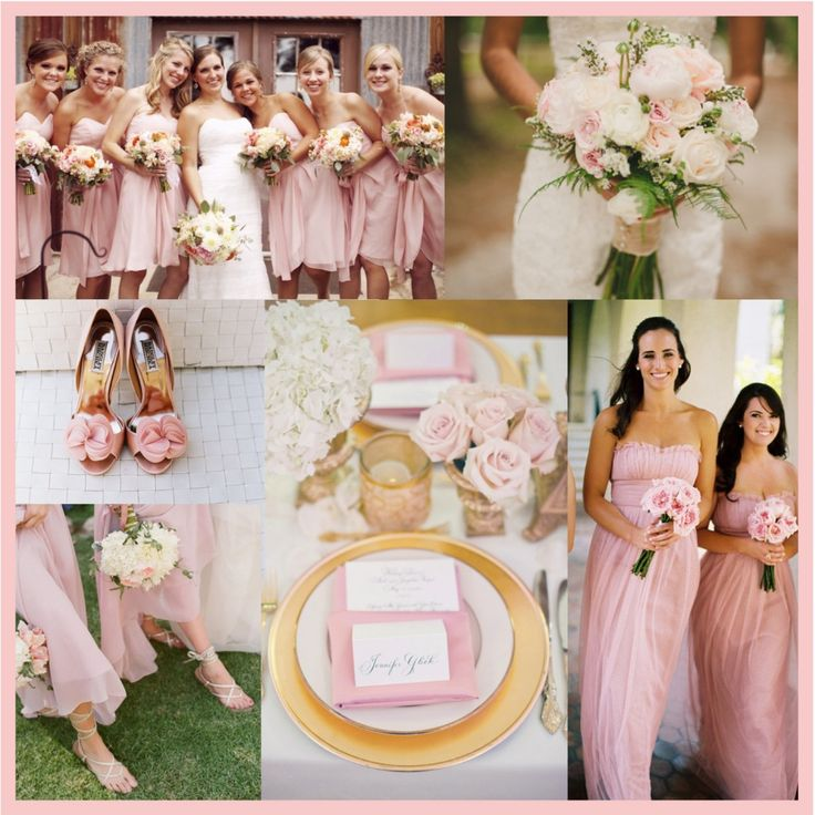 Pantone Rose Quartz Pantone 13-1520 Rose Quartz light pink blush wedding colours: