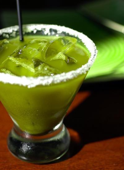 Haru's Green Tea Margarita. http://www.theluxuryspot.com/yum-alert-green-tea-margarita/ http://www.harusushi.com/downloads/Menu_NewYork_SakeBar_Beverage.pdf