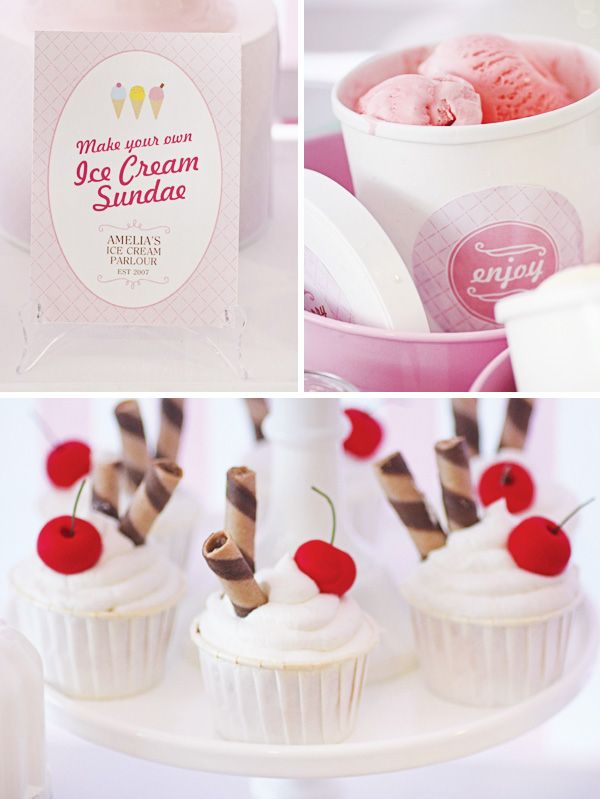 Dreamy Pink & pastel Ice Cream Parlour Party