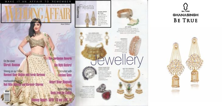 """Ghanasingh Be True Presents """"BEJEWEL LED ESCAPE"""" Collection Got Featured in WEDDING AFFAIR MAGAZINE."""