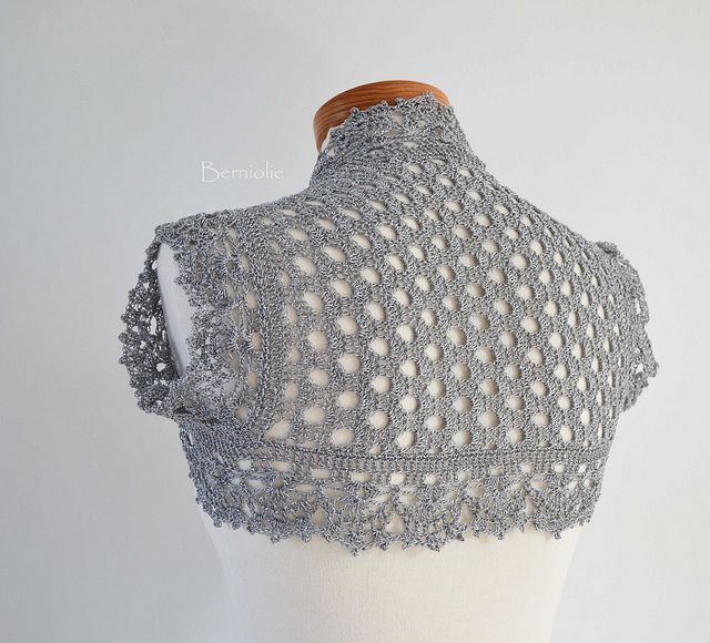 Silver crochet shrug