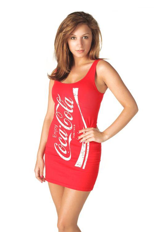 Flowy coca-cola dress plus size