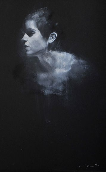 Mark Demsteader, portrait of Emma Watson. (part of collection) I love the way the figure blends in with the background
