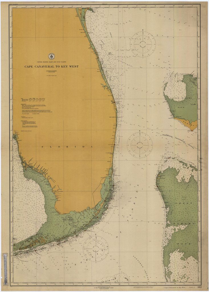 Canaveral to Key West Historical Map