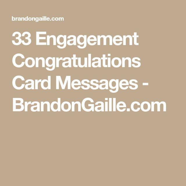 33 Engagement Congratulations Card Messages - BrandonGaille.com
