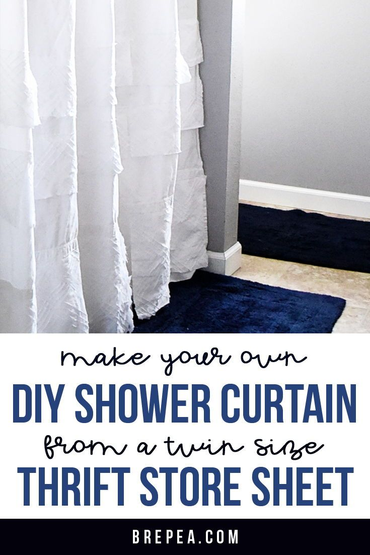 High End Knock Off Thrift Store Diy Shower Curtain Diy Shower