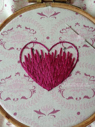 Long-and-short stitch Tutorial by gotthebutton, via Flickr