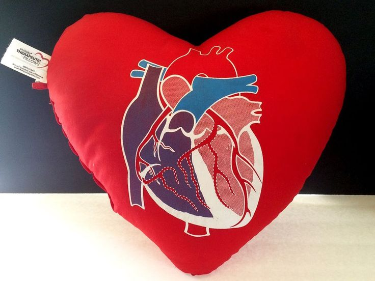 Red Anatomical Heart Therapeutic Pillow - Kaiser Permanente Cardiac Surgery