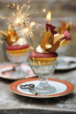 new years cupcake sparklers