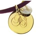 Collar opale, cordón de goma. Ideal. #Regalos #personalizados #joyas #grabadas