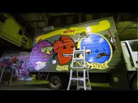 Burger Theory Van gets a new paint job. - YouTube